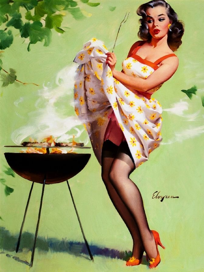 Drawn pin up  poster Vintage Print Up Up Picture