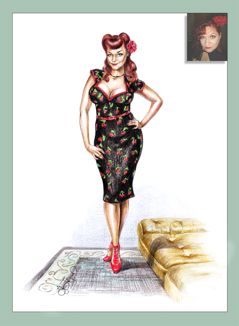 Drawn pin up  poster Gift Christina for Personalized Up