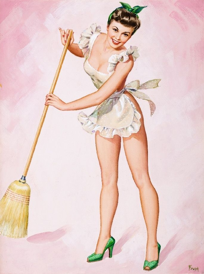 Drawn pin up  poster Picture Collectibles Illustrations US Girl