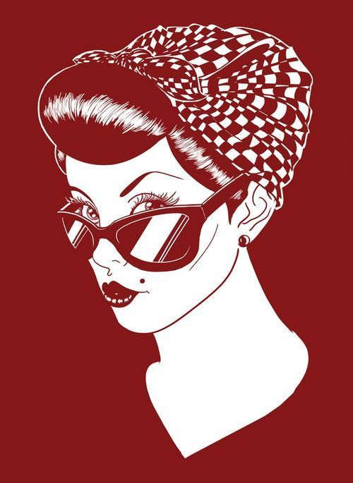 Drawn pin up  rockabilly Up up me this up