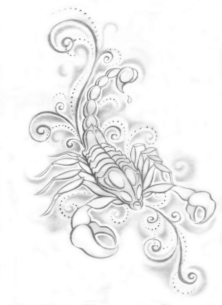Drawn pin up  scorpio Scorpio ideas of popular designs