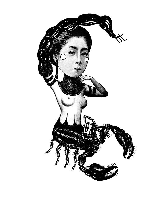 Drawn pin up  scorpio Zodiac Espinosa Espinosa – Carolina