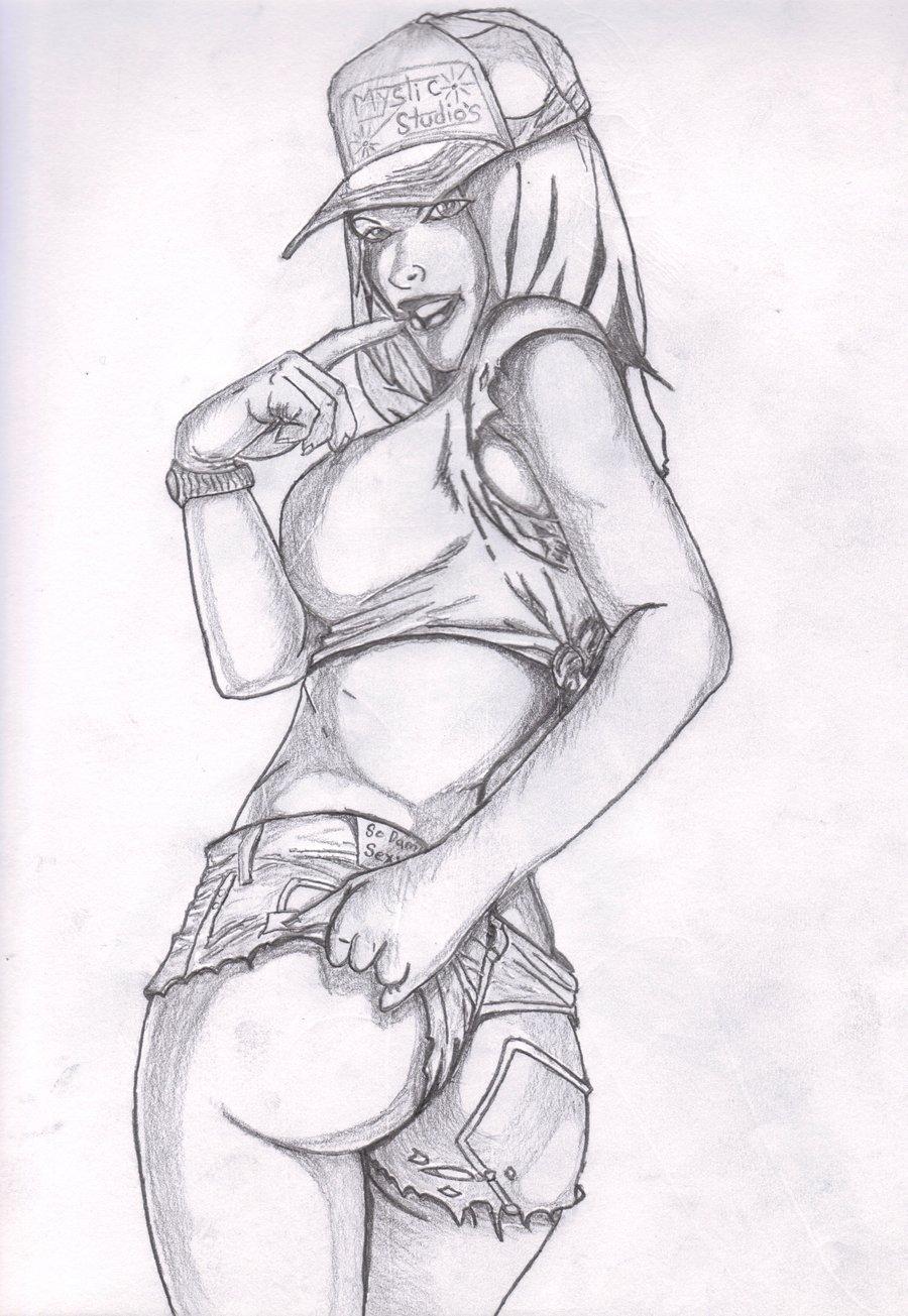 Drawn pin up  sketch By StevenRenner2010 sketch up up