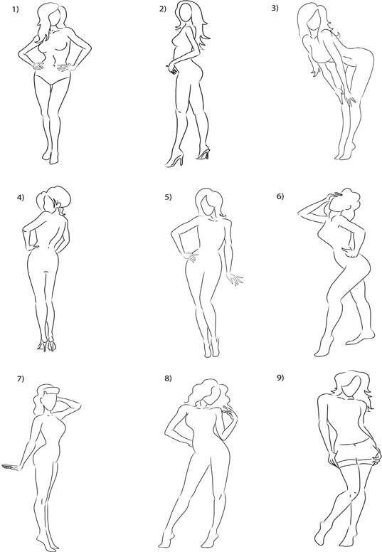 Drawn pin up  standing Pin Pinterest on more Estudio
