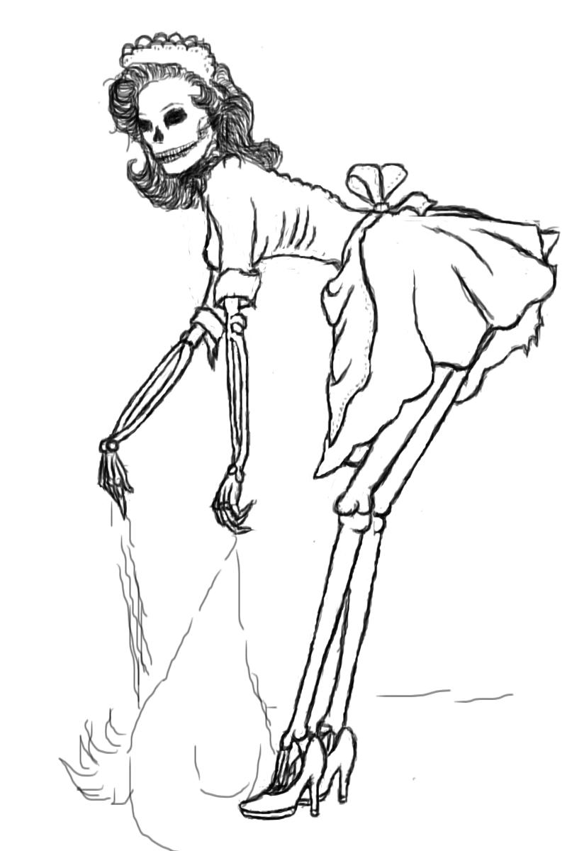 Drawn pin up  traditional Maid pinup by maid DeviantArt