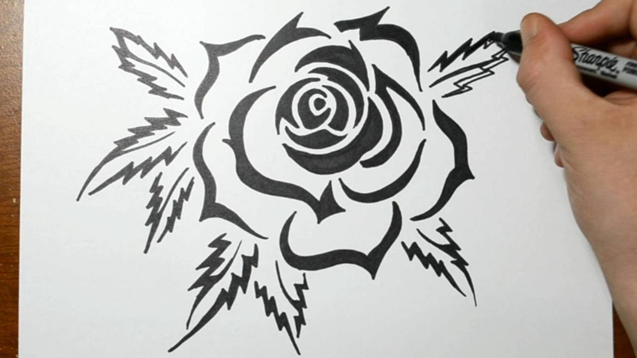 Drawn rose sharpie Rose How YouTube a