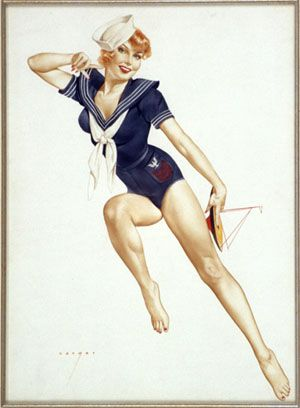 Drawn pin up  us navy Best and on more Pin