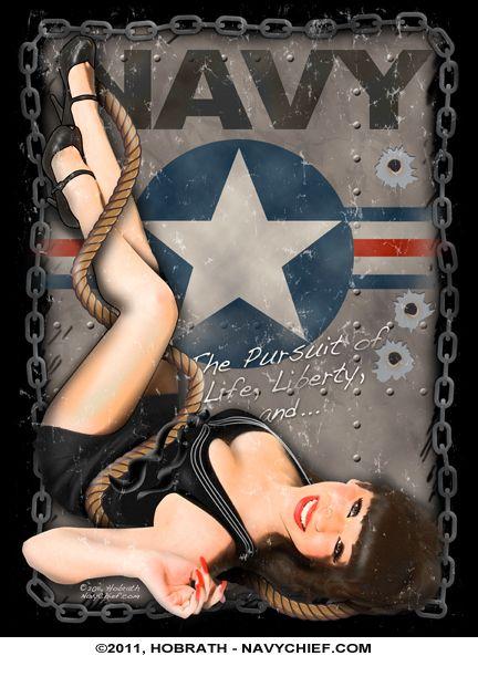 Drawn pin up  us navy  Girl Pin Avion Navy