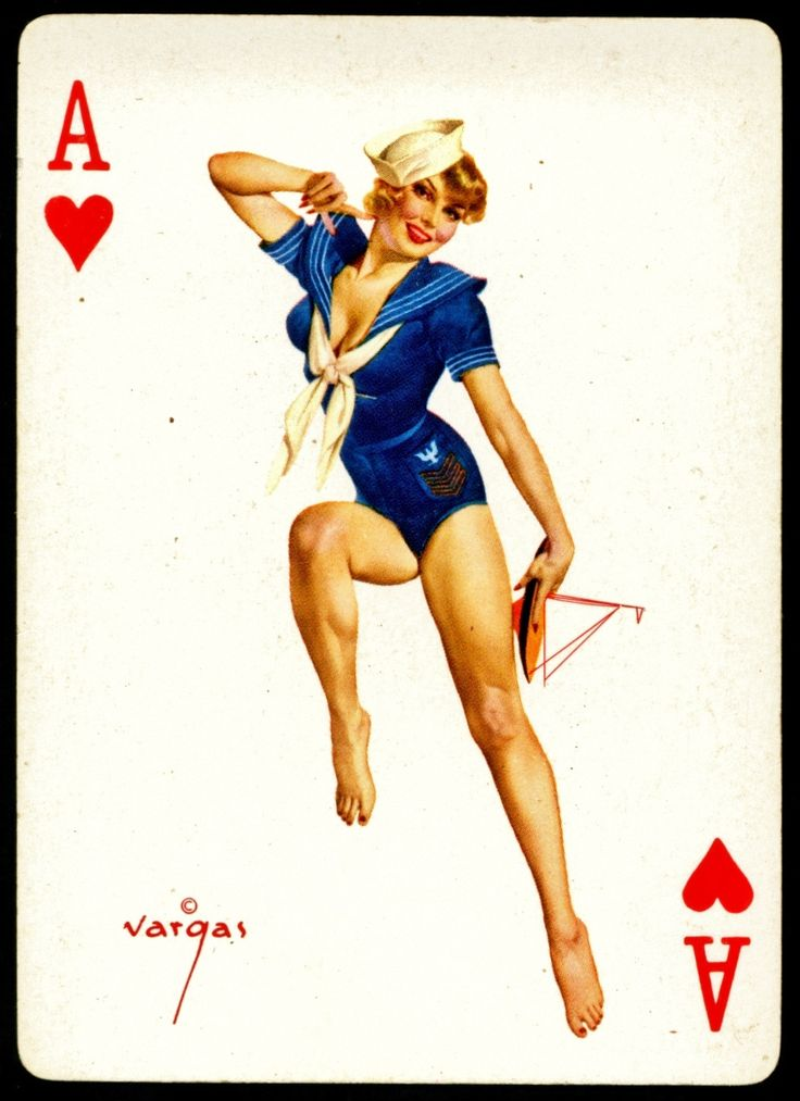 Drawn pin up  us navy Cards and on on more