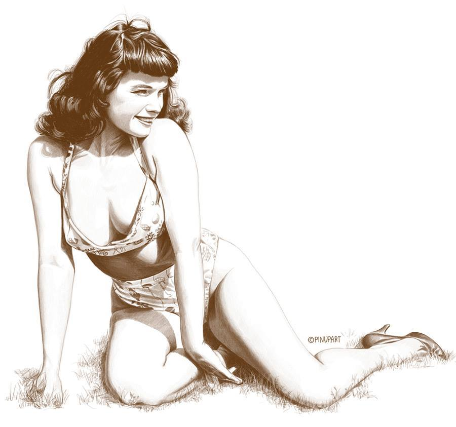 Drawn pin up  uso Of Bettie Drawing Pin Art