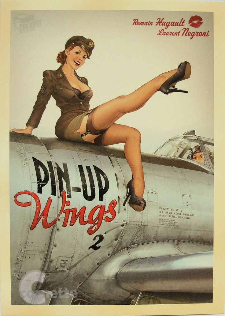 Drawn pin up  uso Wings 78 Pinup on Theme