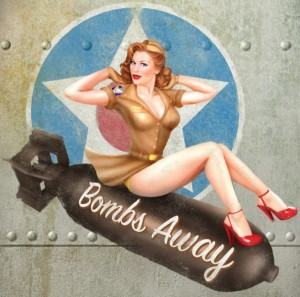 Drawn pin up  uso Pinup Ups 640x634 Most WWII