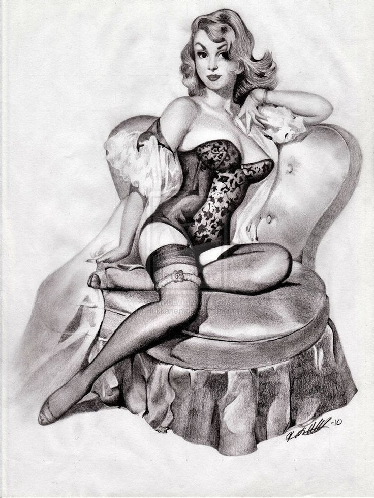 Drawn pin up  vintage About  157 on Pinterest