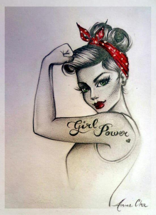 Drawn pin up  vintage Girls Want I want Pin