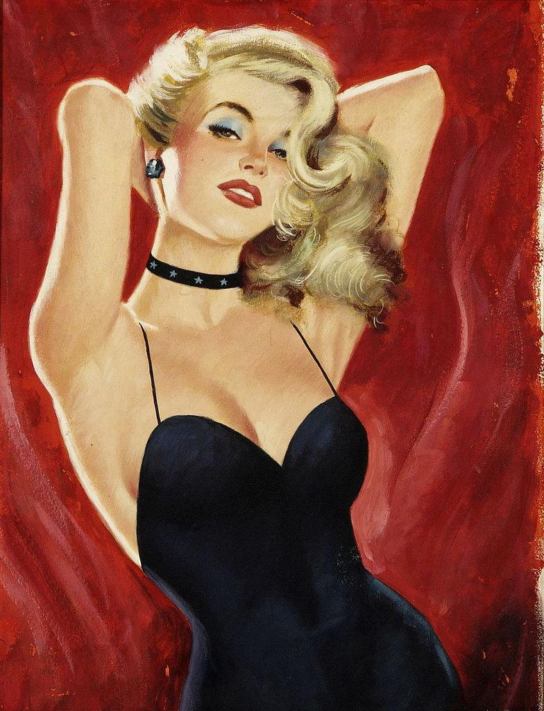 Drawn pin up  vintage Girls Vintage Art Vintage Pin
