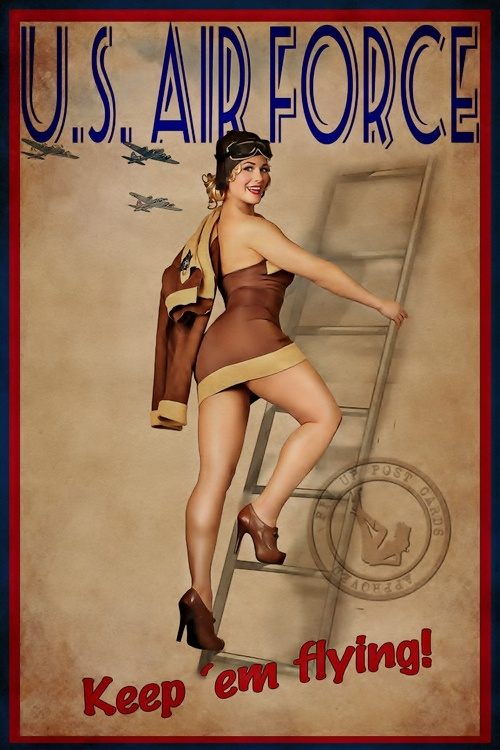 Drawn pin up  vintage air Find Pinup Girls Military and
