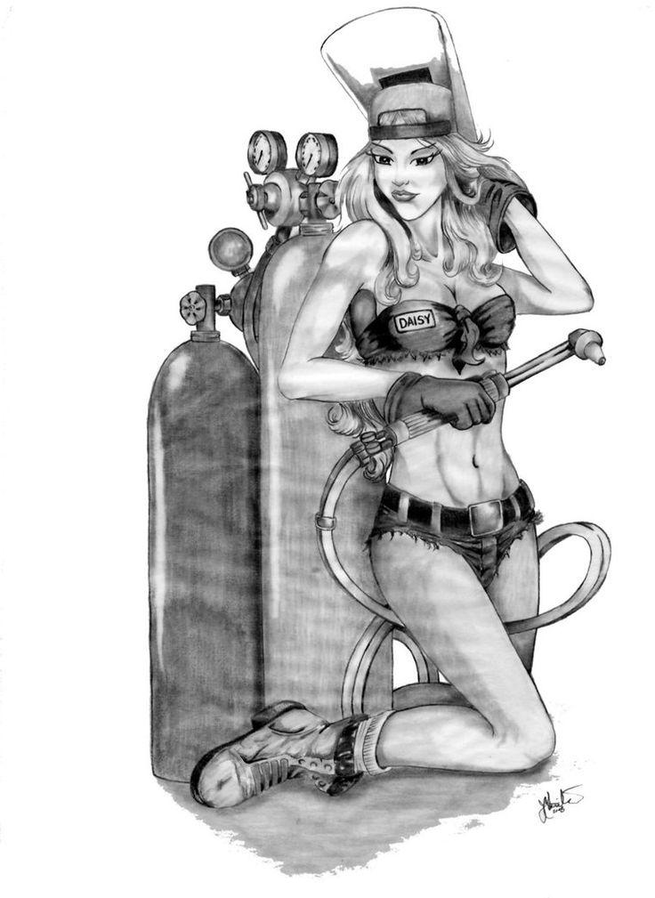 Drawn pin up  welding Images Beauty on Pinterest Welder