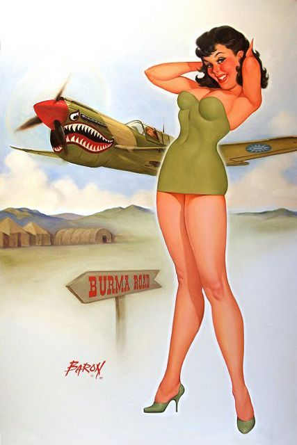 Drawn pin up  ww11 Pinup Pinterest WWII Force Air