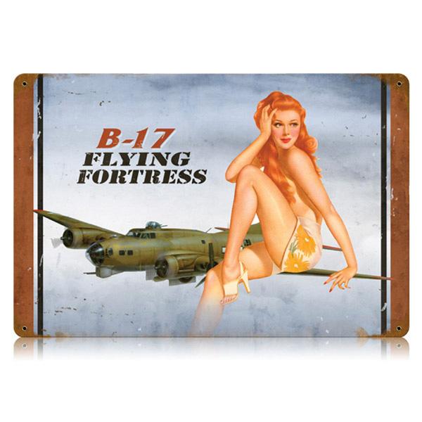 Drawn pin up  ww11 Flying  17 B WWII