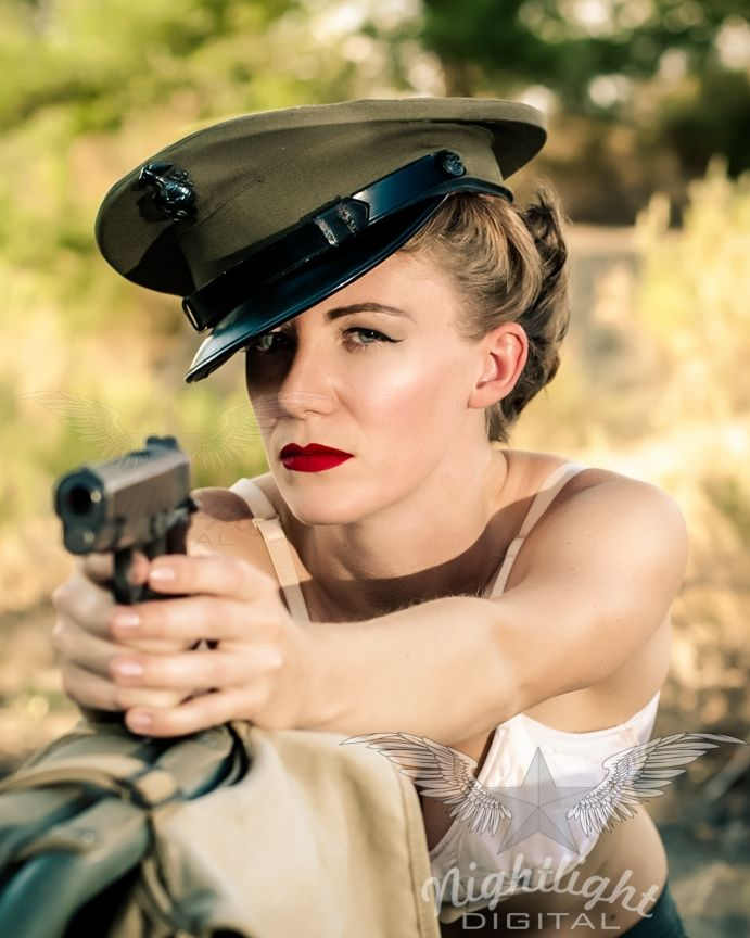 Drawn pin up  ww2 army USMC War Shoot Photography images