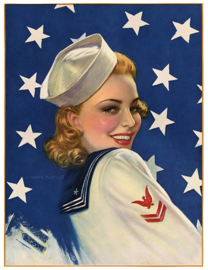 Drawn pin up  ww2 army Victory about Navy Up best