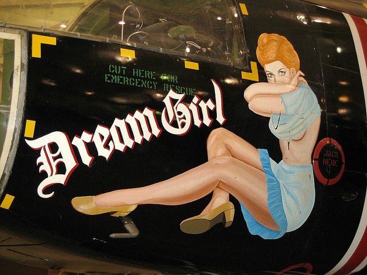 Drawn pin up  wwii aircraft On Roosevelts WWII Ladies [Photos]