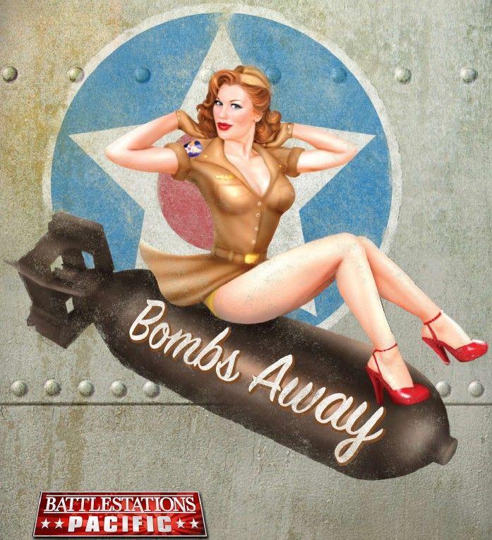 Drawn pin up  wwii aircraft WW bomber War images Vargas