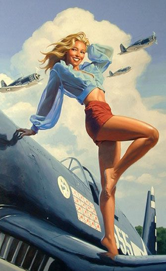 Drawn pin up  wwii aircraft Aircraft on this more on