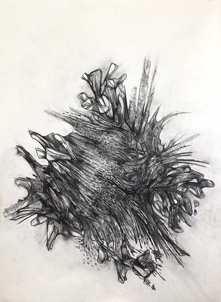 Drawn pine cone Drawing Abstract geode cone pine