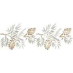 Pine Cone clipart border Pine stencil Photos side Cone