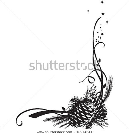 Pine Cone clipart coniferous forest Art Christmas a Stock