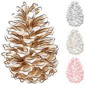 Pine Cone clipart simple Watercolor Pine Cone Free Cone