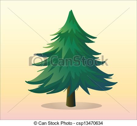Drawn pine tree #13