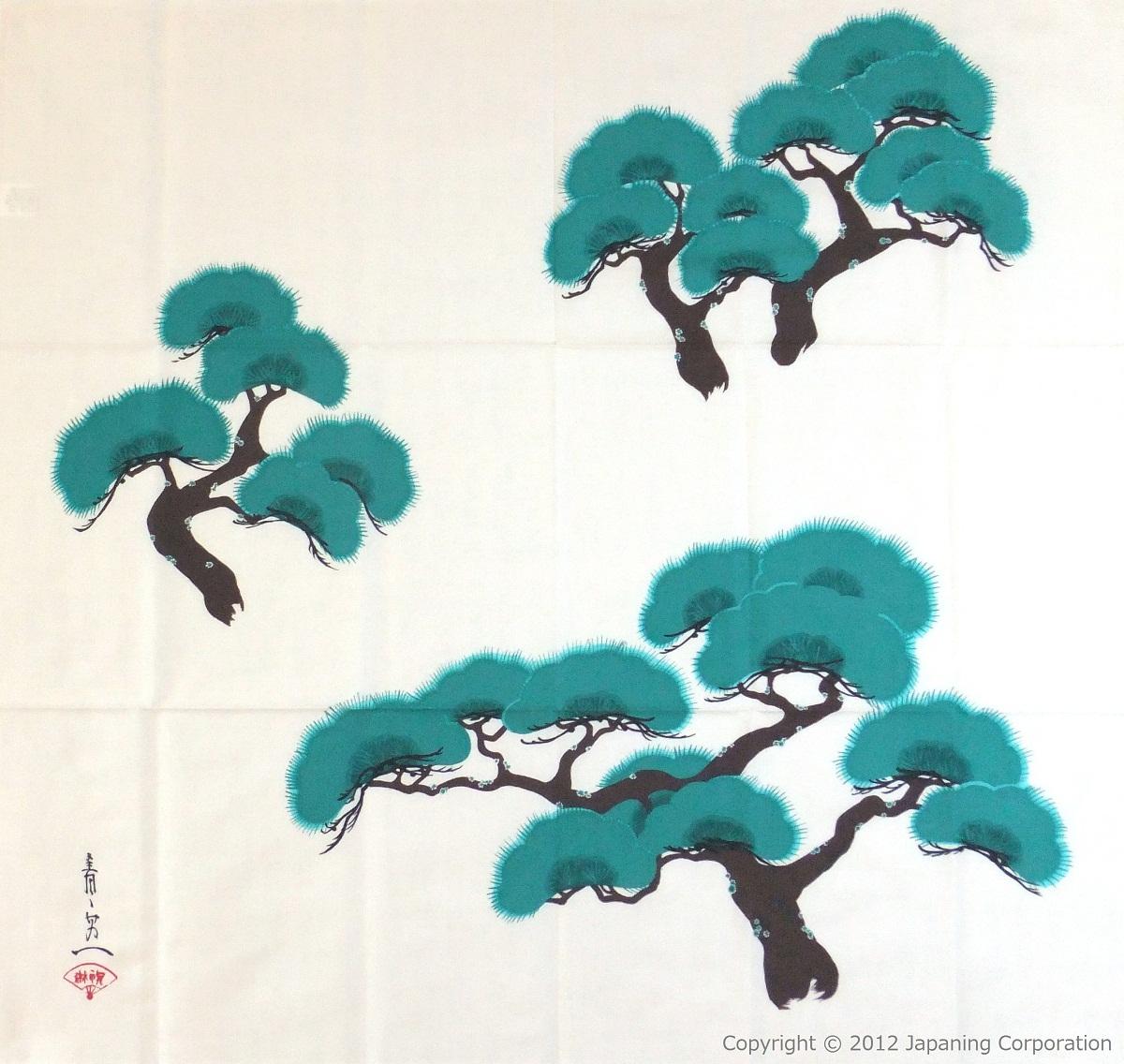 Drawn pine tree japanese Antique Handmade antique cm) Shop