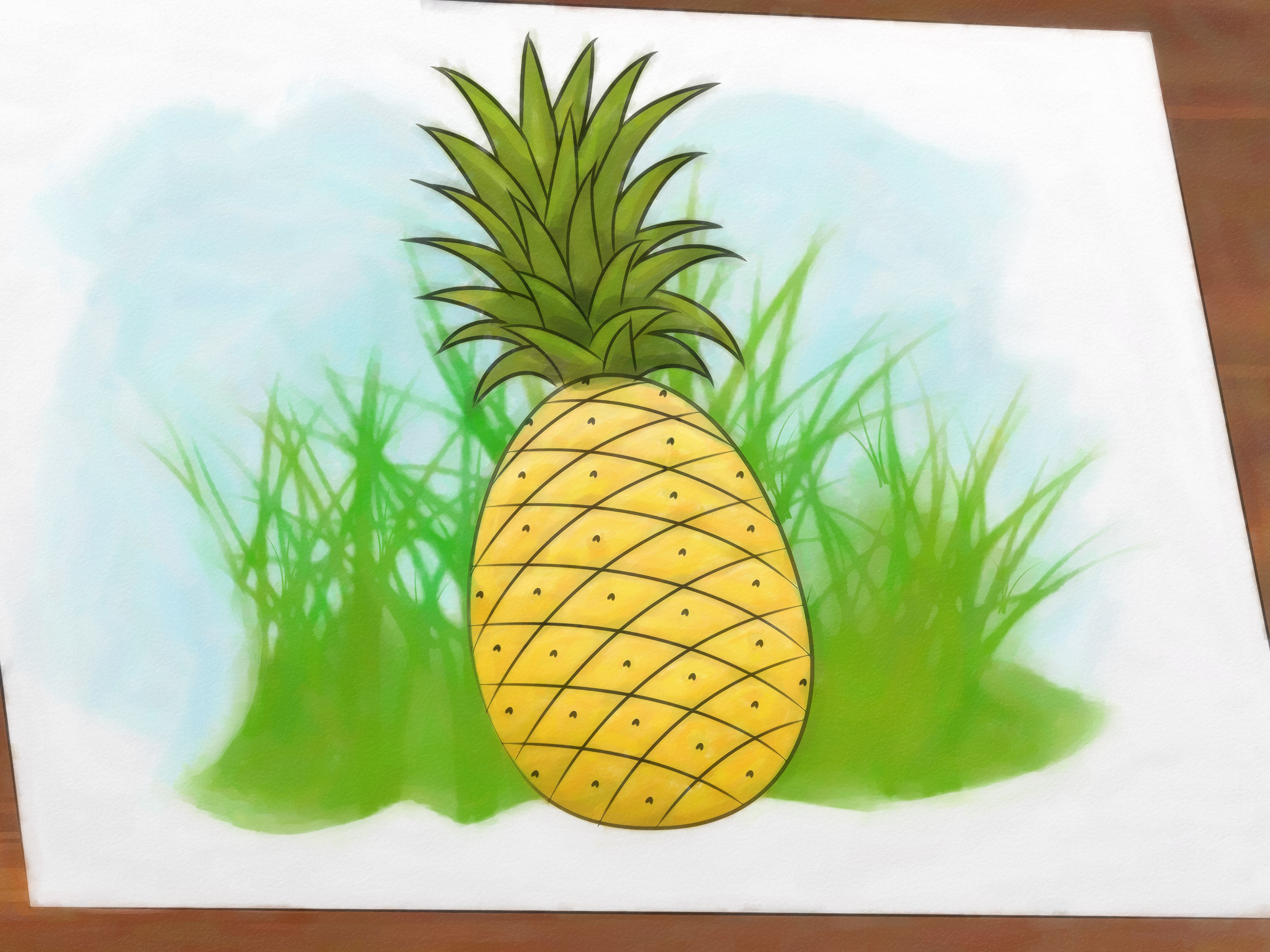 Drawn pineapple A Steps Pictures) Draw 9