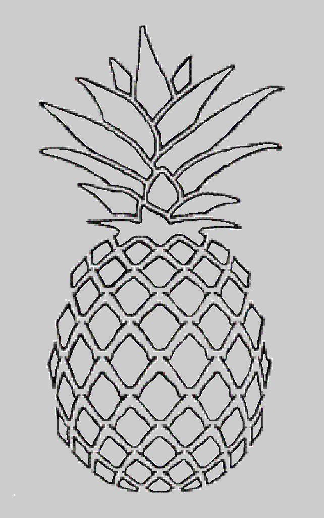Drawn pineapple #10