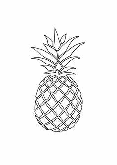 Drawn pineapple #3