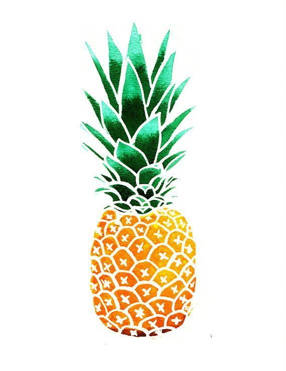 Simple clipart pineapple #7