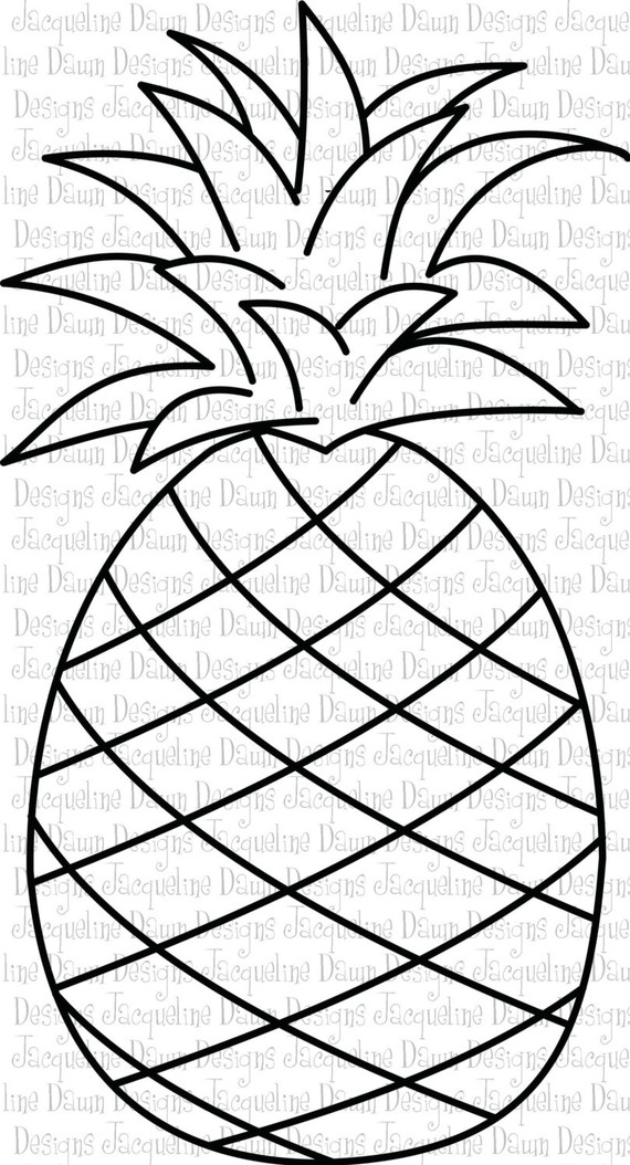 Pineapple clipart coloring page Pineapple StrawberryColoring_点力图库 GrapeColoring Yum Pineapple