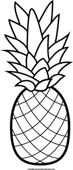 Amd clipart pineapple White Pineapple Black Cliparts Outline