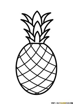 Simple clipart pineapple #2