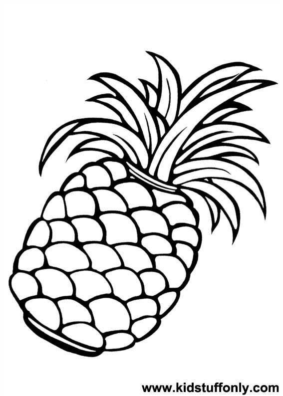 Pineapple clipart coloring page Only KId Pineapple Page Coloring
