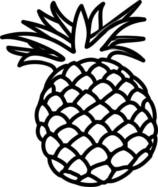 Pineapple clipart coloring page Archives Page Version Coloring Peruclass