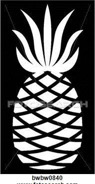 Pineapple clipart stencil Stencils Gallery Free stencils Stencil