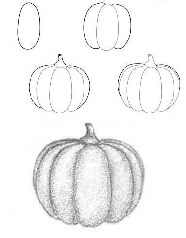 Drawn pumpkin themed Draw  kids Pumpkin Halloween