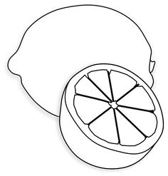 Sugar Apple clipart Vector :: black Citron WORKSHEET