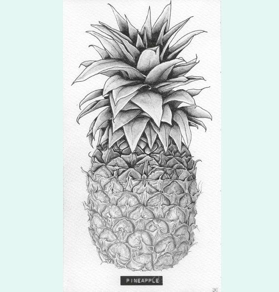 Drawn pencil fruit E by More & carlijnclaire