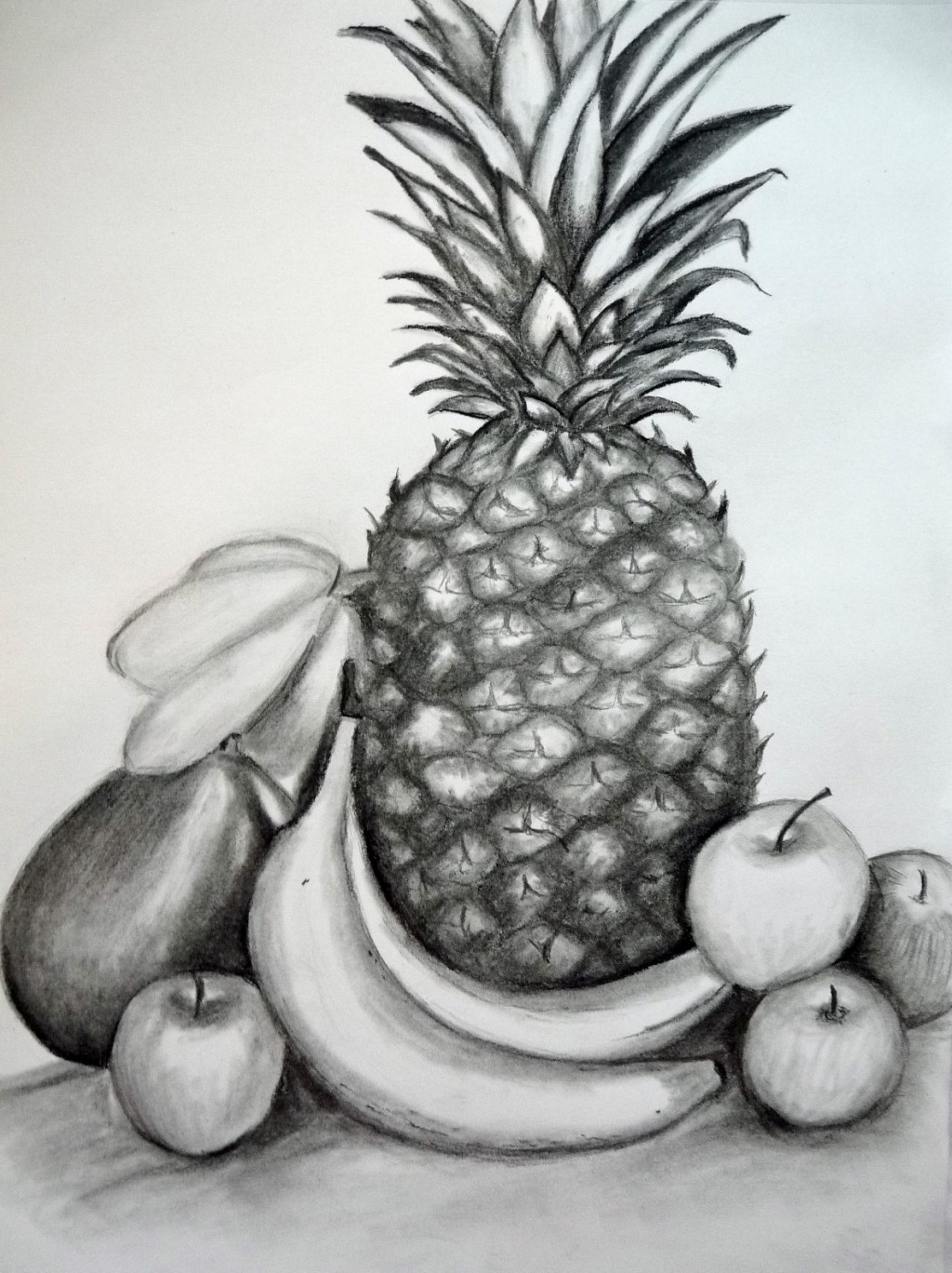 Drawn river elementary drawing exam nature Composition How to Still Life