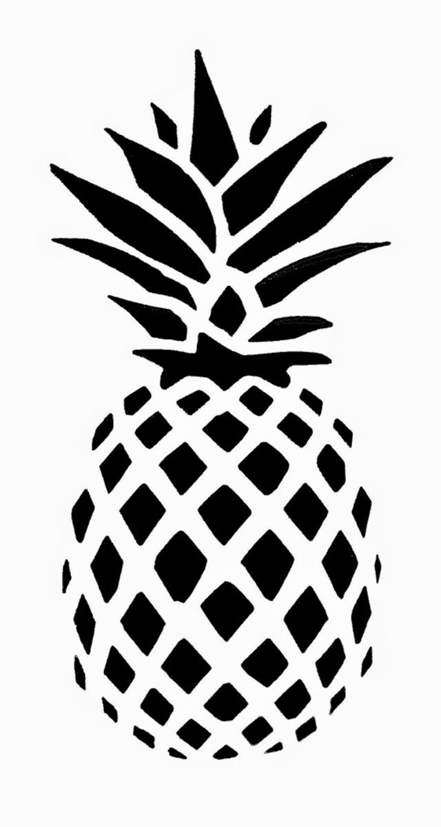 Pineapple clipart stencil Garden Connecticut FREE Pineapple My