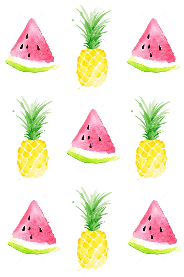 Drawn background watermelon Más & Pinteres… & Pineapple